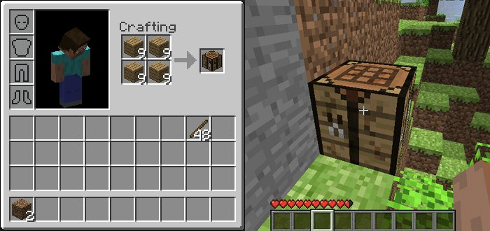 Minecraft guide crafing guide - How do you use a crafting table in minecraft ...
